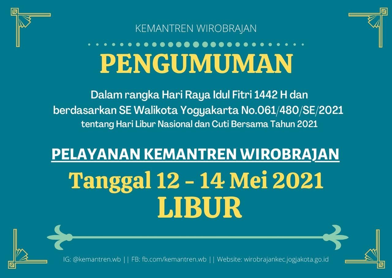 Libur Lebaran Idul FITRI 1442 H