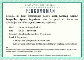 Mobil Layanan Keliling Pengadilan Agama Yogyakarta