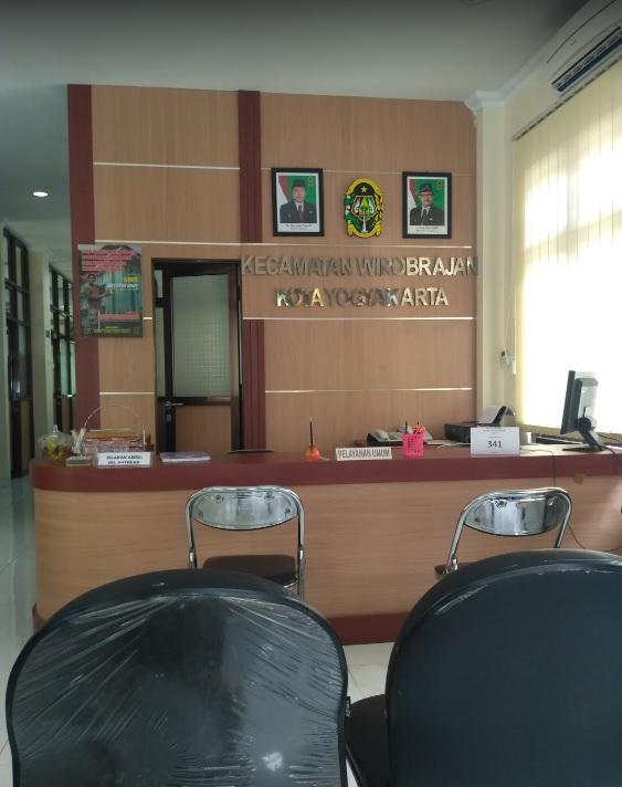 Ruang Pelayanan Kantor Kecamatan Wirobrajan
